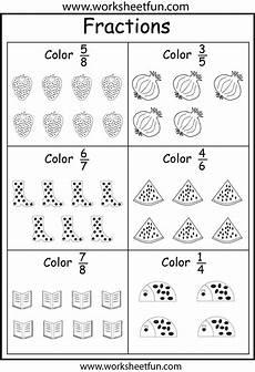 coloring fractions 5 worksheets free printable worksheets worksheetfun