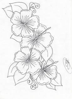 Tattoovorlage Blumenranken Blumenmalvorlagen Blumen