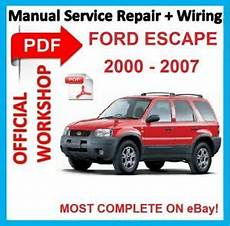 service repair manual free download 2000 ford escape engine control official workshop manual service repair for ford escape 2000 2007 ebay