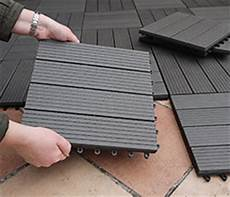 Everfloor Wpc Bambusholz Kunststoff Terrassenfliesen