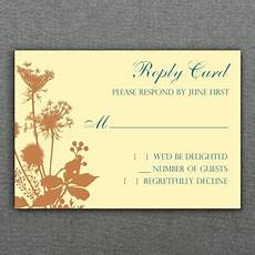 rsvp card template 8 per page fall bouquet rsvp card template print