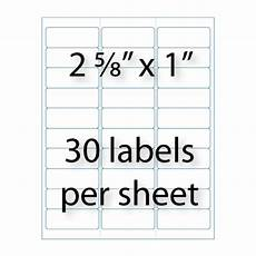 address labels 2 5 8 quot 1 quot 30 up avery 174 5160 compatible stik2it