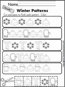 pattern worksheets for kindergarten free 329 free winter patterns cut and paste worksheet ideas kindergarten