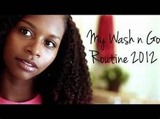 natural hair updated wash n go routine 2012 youtube