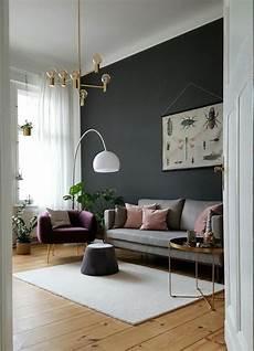 wand gestrichen skandinavisch wandfarbe wohnzi in
