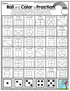 fraction worksheets y3 4177 roll and color a fraction a favorite from the march no prep packet for grade math