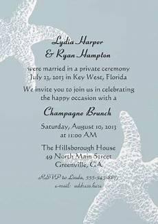 reception invitations reception invitation wording after a private wedding ceremony