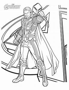 Ausmalbilder Superhelden Thor Character Thor Coloring Page Print