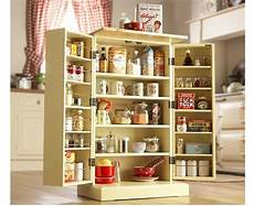 freestanding larder wooden cupboard buttermilk kitchen food storage cabinet ebay