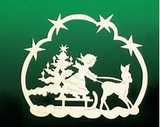 fensterbild weihnacht engelschlitten holz basteln