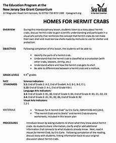 a house for hermit crab lesson plans crabs lesson plans worksheets lesson planet