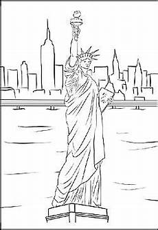 New York Malvorlagen Malvorlage Miss Liberty In New York Coloring 4