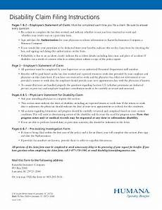 humana disability claim form fill online printable fillable blank pdffiller