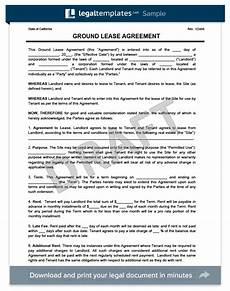 Ground Lease Agreement Print Templates
