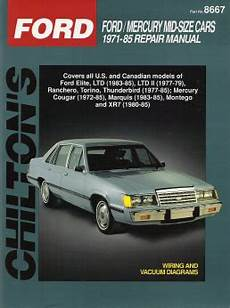best car repair manuals 1985 ford e series on board diagnostic system 1971 1985 ford mid size cars chilton s total car care manual