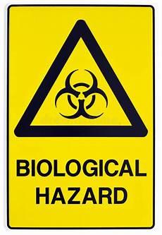 Bei Anmelden Gefährlich - warnzeichen der biologischen gefahr stockfoto bild