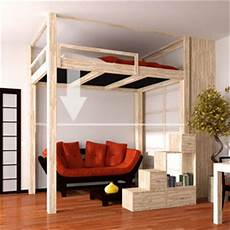 struttura letto a soppalco loft beds japan fourniture cinius