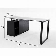 bureau verre noir bureaux meubles et rangements delia bureau en verre noir