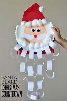 santa beard countdown craft