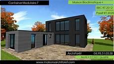 Maison Container Modulaire Ossature Bois D Architecte