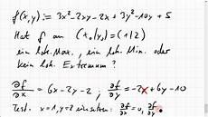22c 2 lokale minima und maxima einer funktion zweier