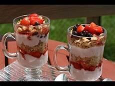 Parfait Aux Fruits Yaourt Fresh Fruit Yogurt Parfait