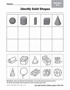 solid shapes worksheets for grade 1 1267 identify solid shapes 4 worksheet for 1st 2nd grade lesson planet