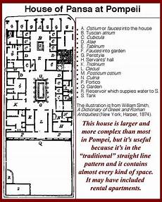 pompeii house plan house of pansa pompeii jpg 576 215 720 house layouts