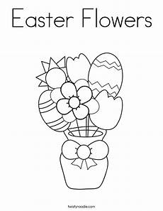 easter flowers coloring page twisty noodle