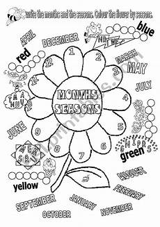 seasons worksheets printable 14749 months and seasons esl worksheet by be67