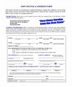 free 9 change of address forms in pdf word