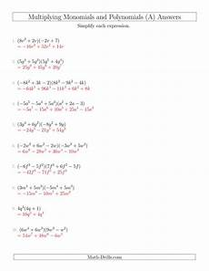 multiplying monomials and polynomials with two factors