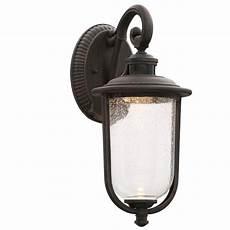 hton bay perdido rust led outdoor motion sensor wall lantern rfsw30030lrs ms the home