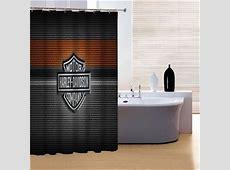 Harley Davidson Shower Curtain Bathroom Decor Motorcycle
