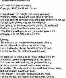 the wedding ring song lyrics old time song lyrics for 38 mothers wedding ring