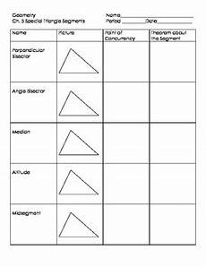 special segments in triangles by tallud teachers pay teachers
