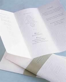 diy wedding program ideas 25 ways to upgrade your diy wedding programs martha