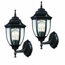 2 black outdoor wall lantern mounted exterior light fixture porch garage 731234458496 ebay