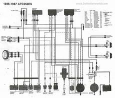 87 honda atv 250 wiring schematic 3wheeler world atc250es