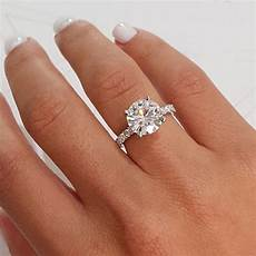 9 5mm forever one colorless moissanite engagement ring pave setting 3 5 carat ring