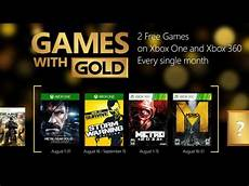 with gold august 2015 kostenlose xbox one xbox 360