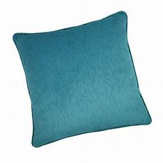 coussin indiana velours bleu turquoise l 60 x h 12 cm