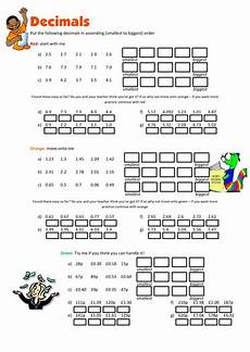 decimal ordering worksheet 7238 ordering decimals worksheet teaching resources