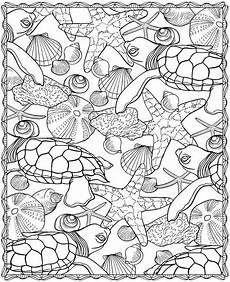 Ausmalbilder Erwachsene Meer Muscheln Und Andere Sch 228 Tze Im Meer Ausmalbild