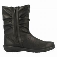 weite schuhe damen wide fitting padders boots indigo ebay