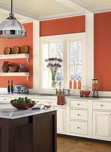 benjamin moore fire dance kitchen wall colors orange