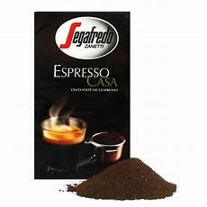 café moulu expresso caf 233 moulu lot de 4 paquets quot segafredo quot espresso casa 1 kg