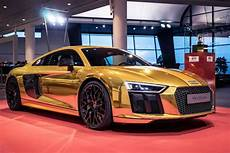 Audi R8 V10 Plus Wrapped In Gold Pictures Digital Trends