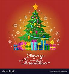 merry christmas greeting card with royalty free vector