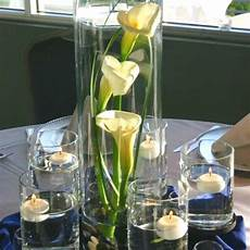 wedding calla centerpieces pictures calla centerpiece surrounded by floating candles